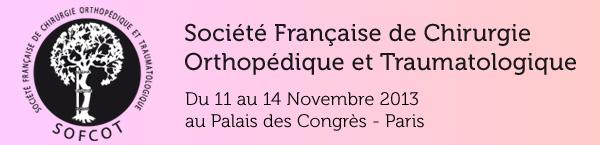 SOFCOT 2013 : SOciété Française de Chirurgie Orthopédique et Traumatologique