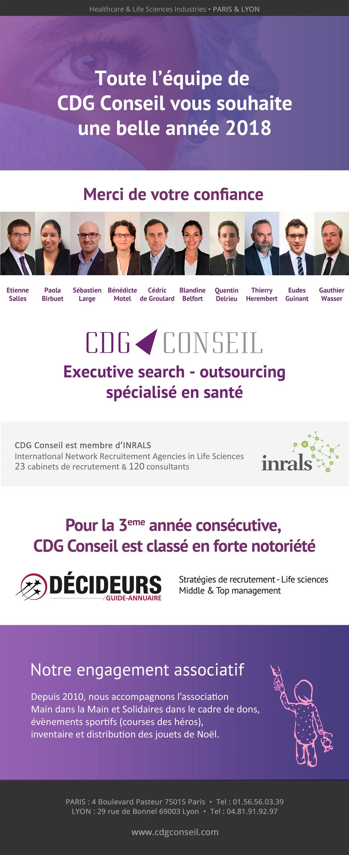 CDG Conseil vous présente ses voeux pour 2018